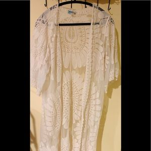 Women's Long Embroidered Lace Kimono
